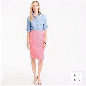J. Crew | Pencil Skirt in Neon fuchsia tweed